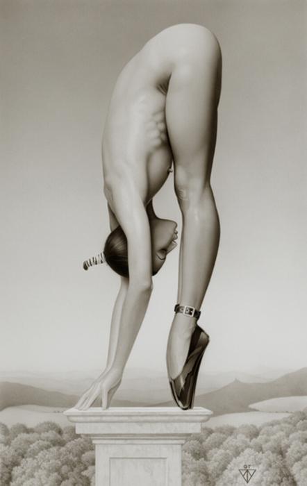 Acrobat on High Heels